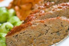 Fleischstück mit Brüssel Lizenzfreies Stockbild