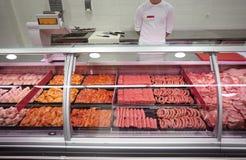 Fleischsupermarkt Lizenzfreies Stockbild