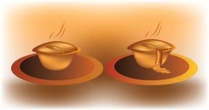 Fleischtorte oder -muffin auf einer Platte Stockbilder