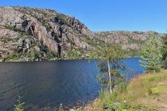 Flekkefjorden i Norge Fotografering för Bildbyråer