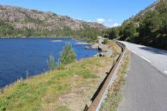 Flekkefjorden i sydvästliga Norge, Europa Royaltyfria Bilder