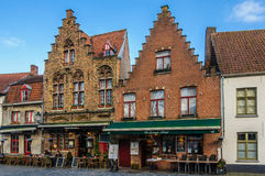 Flemish buildings in Bruges, Belgium Royalty Free Stock Images