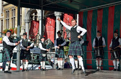 Flemish Caledonian Pipes group Royalty Free Stock Photography