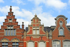 Flemish gables, mechelen Stock Photo