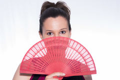 Flemish. Flemish girl with a fan Stock Photography