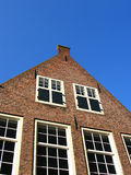 Flemish house. The façade of an historic Flemish house in Holland Stock Photo