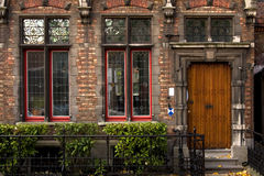 Flemish house facade. Old Flemish house facade in Bruges, Belgium Stock Photo