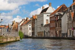 Flemish Houses in Brugge Royalty Free Stock Images