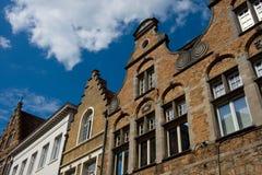 Flemish houses facades in Belgium Stock Image