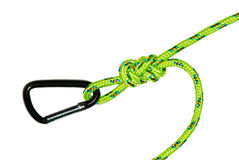 The flemish knot and carabiner Stock Images