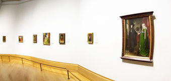 Flemish masterpieces in National Gallery of London Royalty Free Stock Images