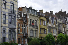 Flemish street. Buildings on Flemish street tall and narrow Royalty Free Stock Photography