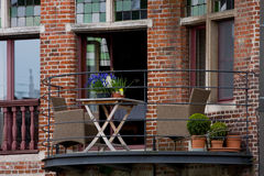 Flemish style balcony. In Gent Stock Images