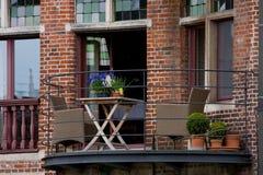 Flemish style balcony Stock Images