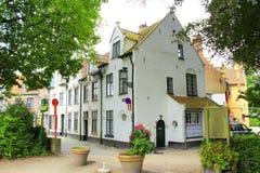 Flemish style houses Bruges Belgium Stock Photos
