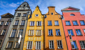 Flemish style houses in Gdansk. Gdansk, Poland - Sept 11, 2015. Colorful Flemish Houses on Ulica Dluga, Gdansk, Poland Stock Images