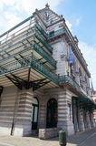 Flemish theatre of Brussels. Brussels, Belgium - July 31, 2015: Flemish theatre of Brussels featuring different levels of balconies in neo-renaissance style stock images