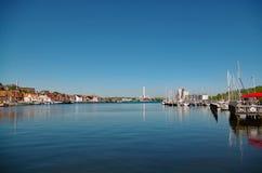 Flenburg hamn Fotografering för Bildbyråer