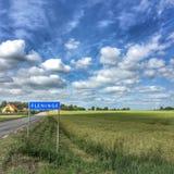 Fleninge wioska Zdjęcia Stock