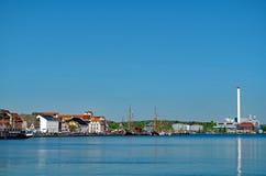 Flensburg hamn Fotografering för Bildbyråer