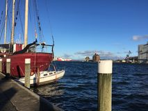 Flensburg Harbour in Germany Stock Photo