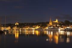Flensburg at night Stock Photography