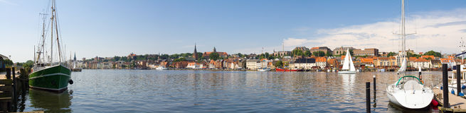 Flensburg panorama Royalty Free Stock Photos