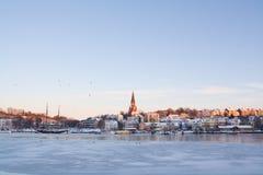 Flensburg in winter Stock Photos
