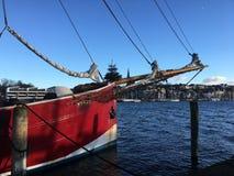 Flensburghaven in Duitsland Royalty-vrije Stock Foto
