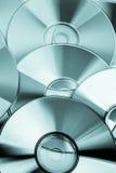 Flera CD- och DVD-disketter Fotografering för Bildbyråer