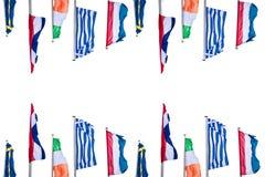 Flera Europa landsflaggor Royaltyfri Bild