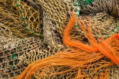 Flera fisknät Royaltyfria Bilder