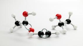 Flera kemiska modeller av olika former av Ethanol Arkivbilder