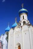 Flera kyrkor i Treenighet Sergius Lavra, Sergiev Posad, Ryssland UNESCOvärld Herit Royaltyfria Bilder
