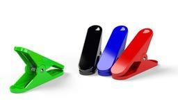 Flera nagelsax av olika färger som förläggas på den vita backgen Fotografering för Bildbyråer