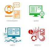 Flera riktningar i IT-sfären 3 Arkivfoto