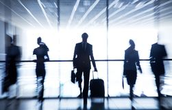 Silhouettes av businesspeople Arkivfoto