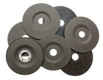 Flera slipande disketter för metallklipp Royaltyfria Foton