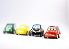 Flera små bilar för rättsskipning Royaltyfri Fotografi