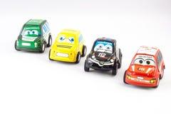 Flera små bilar för rättsskipning Fotografering för Bildbyråer