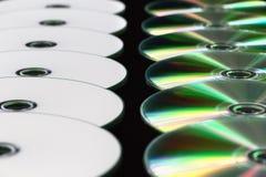 Flera uppställda DVD Royaltyfri Foto