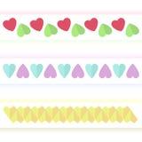 Flera varianter av hjärtatecken Royaltyfria Bilder