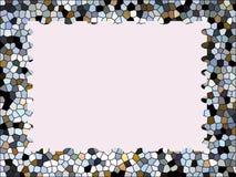 Flerfärgad bakgrund för mosaikramabstrakt begrepp Stock Illustrationer