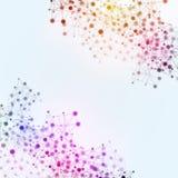 Flerfärgad bakgrund för teknologinätverksanslutningar Arkivfoto