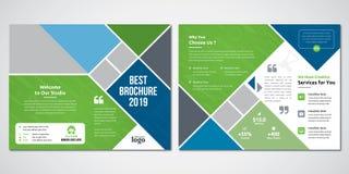 Flerfärgad bifold broschyrdesignmall vektor illustrationer