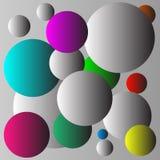 Flerfärgad bollbakgrundsdesign Arkivbilder