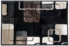 Flerfärgad dörrmatta Grey Black Beige Tiled för woolen tappning royaltyfria bilder