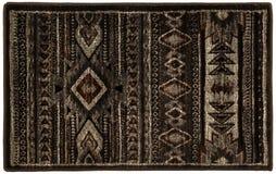 Flerfärgad dörrmatta Grey Black Beige Tiled för woolen tappning royaltyfri foto