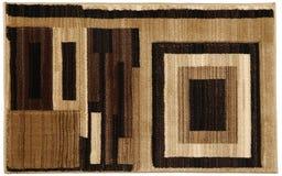 Flerfärgad dörrmatta Grey Black Beige Tiled för woolen tappning royaltyfria foton