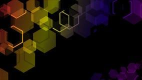 Flerfärgad geometrisk bakgrund Arkivfoton